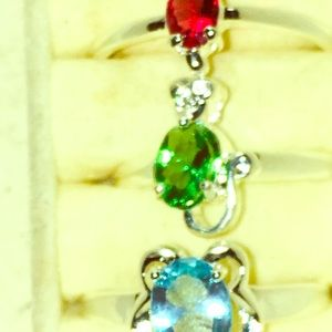 Any Birthstone real .975 sterling silver